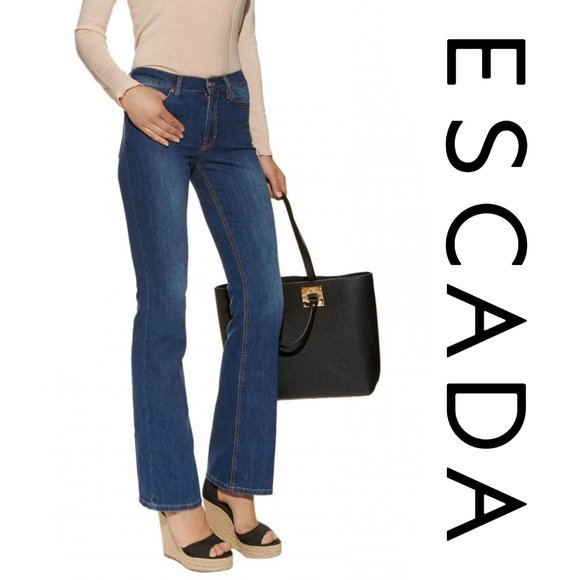 "Escada Sport Flared ""Kate"" Blue Jeans Size 34"